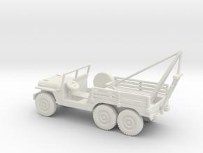 1/87 Scale 6x6 Jeep MT Wrecker in White Natural Versatile Plastic