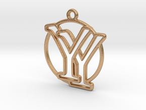Y&Y Monogram in Natural Bronze