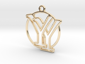 Y&Y Monogram in 14k Gold Plated Brass