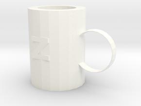 Mug in White Processed Versatile Plastic