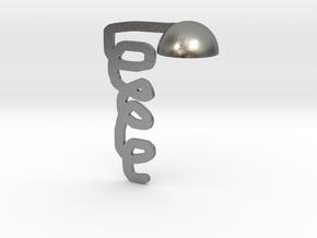 table lamp in Natural Silver: Medium