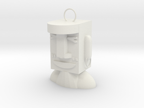 Easter Island Stone Statue (happy) in White Natural Versatile Plastic