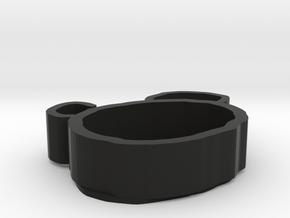 bear  plate in Black Natural Versatile Plastic