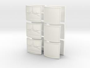 DIMITRIS 9 PLATES  in White Processed Versatile Plastic