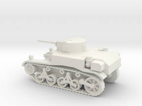 1/72 Scale M3A1 Light Tank in White Natural Versatile Plastic
