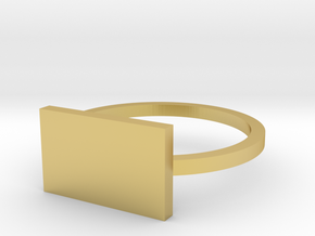 Rectangle 13.21mm in Polished Brass