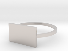 Rectangle 14.86mm in Rhodium Plated Brass
