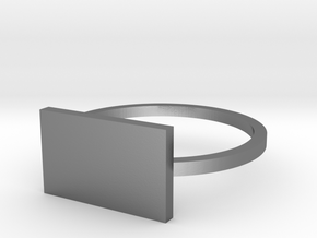 Rectangle 14.86mm in Polished Silver