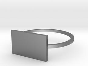 Rectangle 18.53mm in Polished Silver