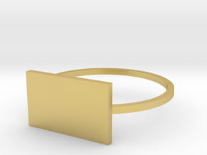 Rectangle 19.41mm in Polished Brass