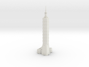 Taipei 101 in White Natural Versatile Plastic