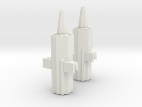 Transformers TR Ravage and Stripes Accessory in White Natural Versatile Plastic