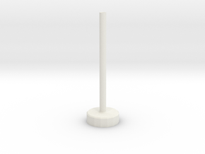 Flight Stand (10mm x 3mm Base; 30mm Post) in White Natural Versatile Plastic