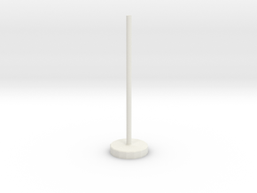 Flight Stand (15mm x 3mm Base; 50mm Post) in White Natural Versatile Plastic