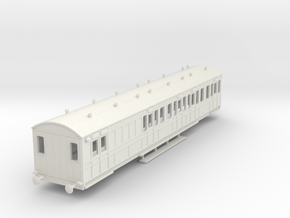 o-76-rhymney-railway-brk-3rd-two-open-saloon-coach in White Natural Versatile Plastic