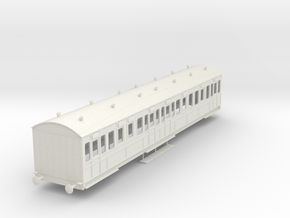 o-43-rhymney-railway-3rd-two-open-saloon-coach in White Natural Versatile Plastic