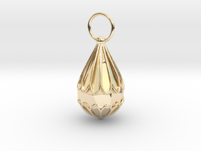 The Small Chrysanthemum Jewelry Pendant in 14K Yellow Gold: Small