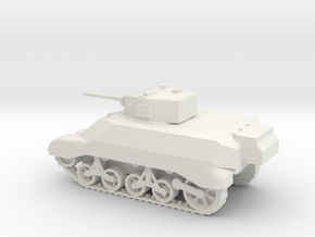 1/72 Scale M3A3 Light Tank in White Natural Versatile Plastic