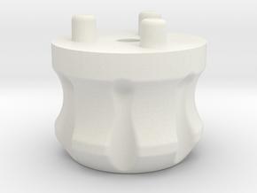 Emek/Etha 2 Bolt Cap - CREED in White Natural Versatile Plastic