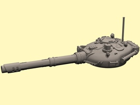 28mm T-72 style Challenger tank turret in White Processed Versatile Plastic