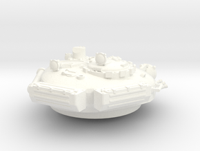 28mm DIY T-72 style turret no gun in White Processed Versatile Plastic