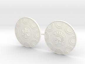 DIMITRIS 9 SHIELDS  in White Processed Versatile Plastic