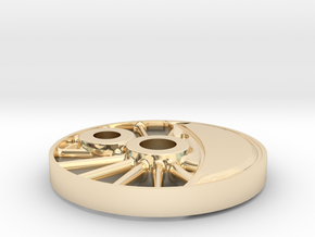 wheel H-maskine 1:45  in 14K Yellow Gold