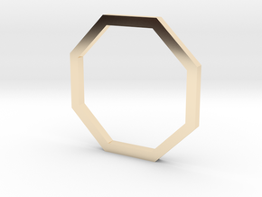 Octagon 12.37mm in 14K Yellow Gold