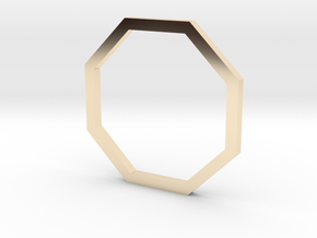 Octagon 13.21mm in 14k Gold Plated Brass