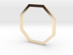 Octagon 14.05mm in 14k Gold Plated Brass