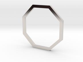 Octagon 14.36mm in Rhodium Plated Brass