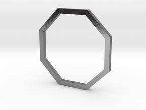 Octagon 14.36mm in Polished Silver