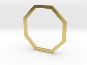 Octagon 14.56mm in Polished Brass