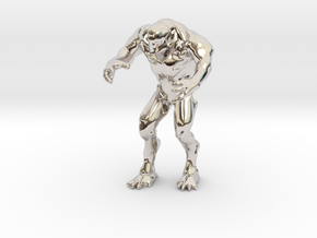 Hell knight Doom  2 inches in Rhodium Plated Brass