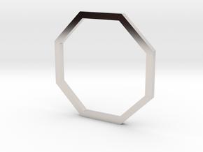 Octagon 14.86mm in Rhodium Plated Brass