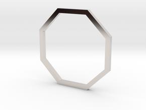Octagon 15.70mm in Rhodium Plated Brass