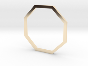 Octagon 16.51mm in 14K Yellow Gold
