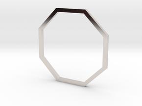 Octagon 18.53mm in Rhodium Plated Brass