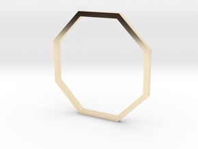 Octagon 19.41mm in 14k Gold Plated Brass