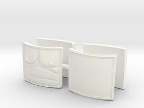DIMITRIS 9 PLATES x2 in White Processed Versatile Plastic