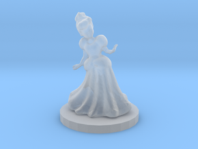 Princess (28mm Scale Miniature) in Smooth Fine Detail Plastic