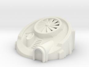 6mm Scale Terraforming Building in White Natural Versatile Plastic