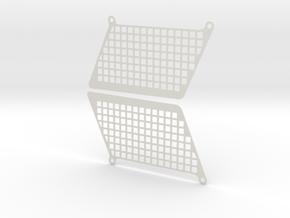 Window net for Losi Rock Rey Set in White Natural Versatile Plastic