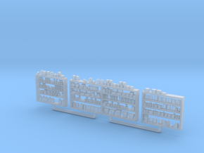 Detailed Shelving with Goods HO Scale in Smooth Fine Detail Plastic