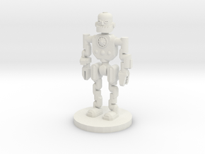 Robot Explorer (28mm Scale Miniature) in White Natural Versatile Plastic