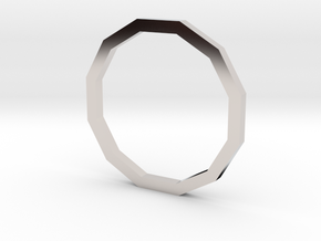 Dodecagon 12.37mm in Rhodium Plated Brass