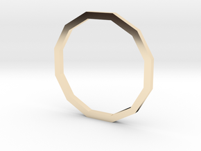 Dodecagon 14.36mm in 14K Yellow Gold