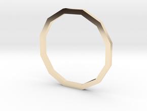 Dodecagon 14.56mm in 14K Yellow Gold