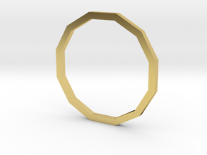Dodecagon 14.86mm in Polished Brass