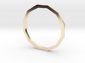 Dodecagon 15.27mm in 14K Yellow Gold